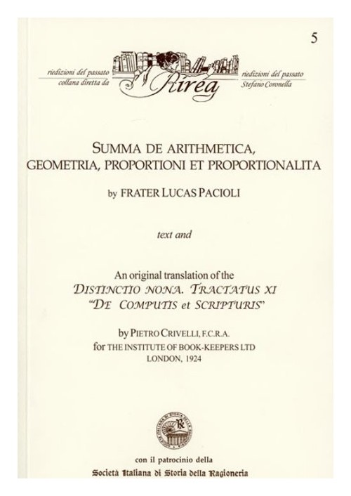Summa de arithmetica, geometria, proportioni et proportionalita. An original translation of the Distinctio nona. Tractatus IX