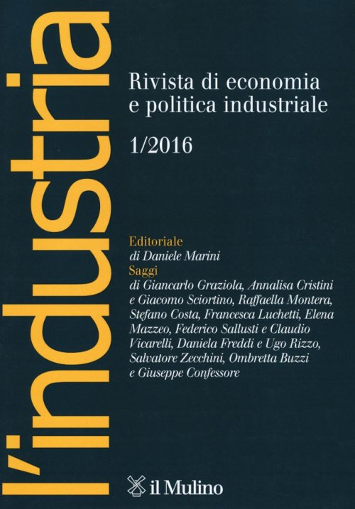 L'industria (2016). Vol. 1.