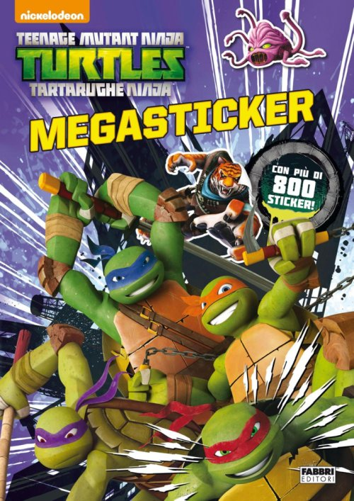 Teenage mutant ninja turtles. Megastickers.