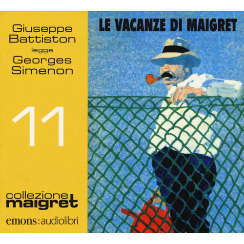 Le vacanze di Maigret letto da Giuseppe Battiston. Audiolibro. CD Audio formato MP3.
