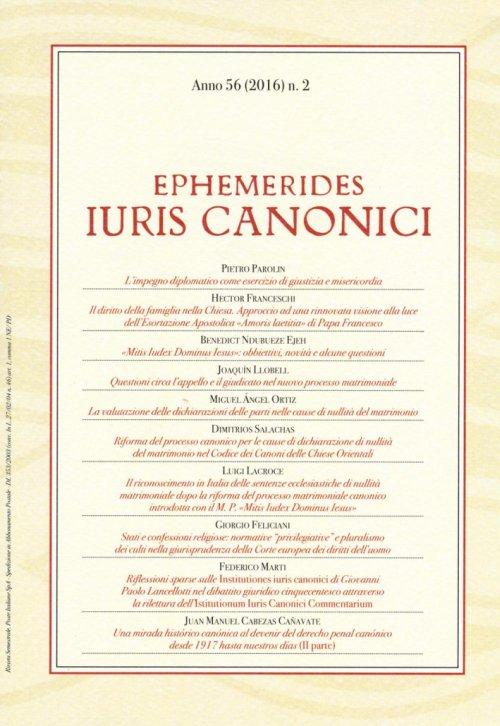 Ephemerides Iuris canonici (2016). Vol. 2.