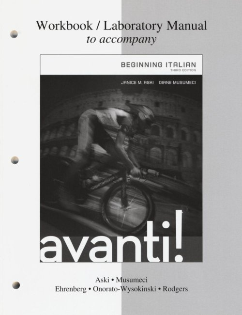Workbook-laboratory manual to accompany Avanti: beginning.