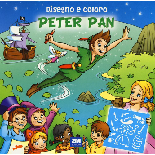 Trendy model Peter Pan. Disegno e coloro.