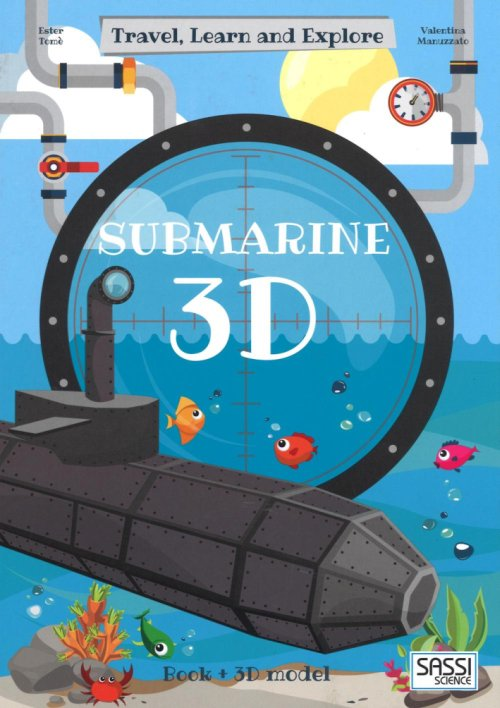 3D submarine. Travel, learn and explore.