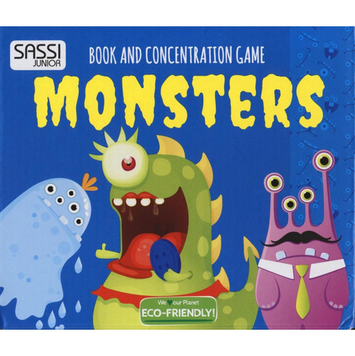 Monsters. Book and concentration game.
