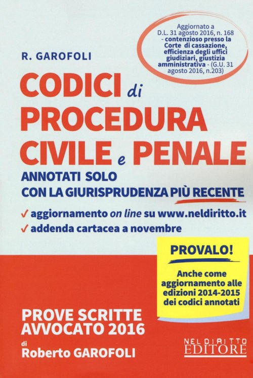 Codice di procedura civile e penale.