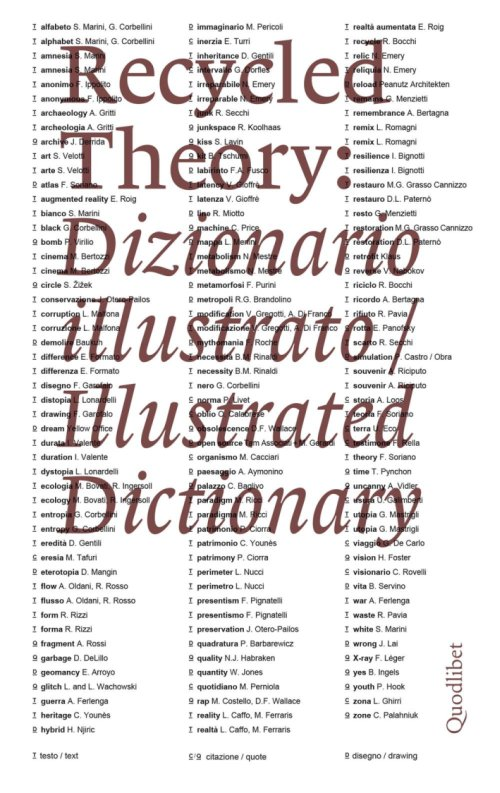 Recycled Theory. Dizionario illustrato. Illustrated Dictionary.