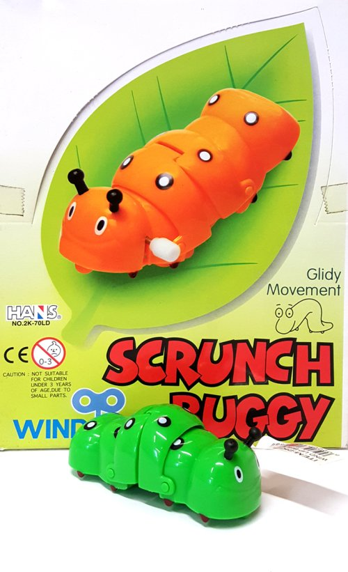 Wind-Up Scrunch Buggy. Bruchi a retrocarica.
