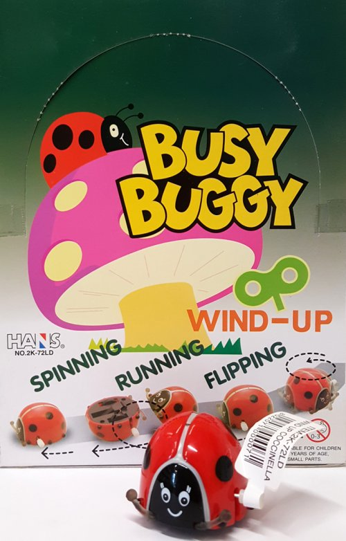 Wind-Up Busy Buggy. Coccinelle a retrocarica. (1 conf. 24 pz).