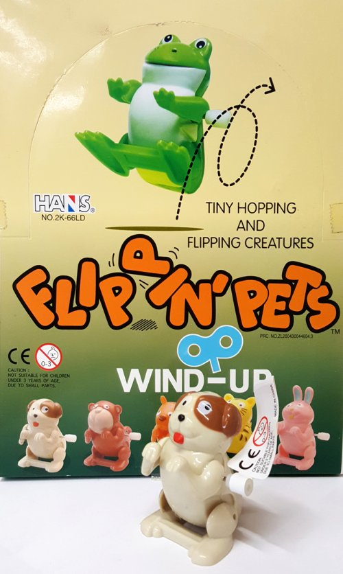 Wind-Up Flippin'pets. Animaletti assortiti a retrocarica. (1 conf. 24 pz).