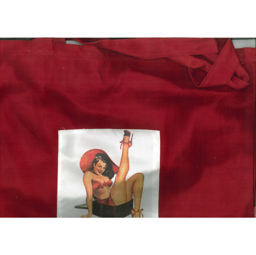 Shopping Bag in Cotone. Pin up. Rossa. Legami. Cm47x35.