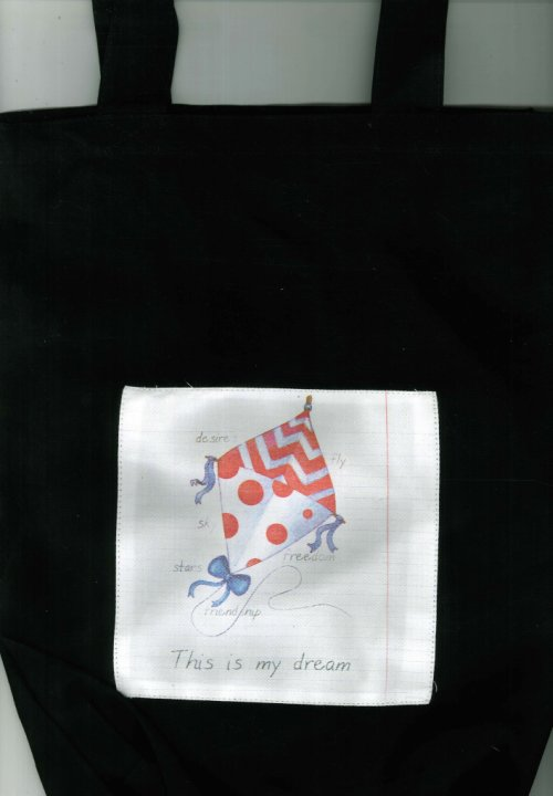 Shopping Bag in Cotone. This Is My Dream - Nera. Legami. Cm40x30.