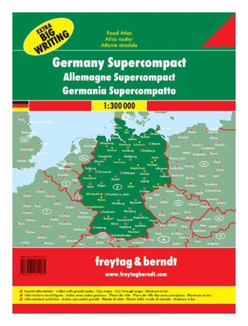 Germany supercompact 1:300.000.