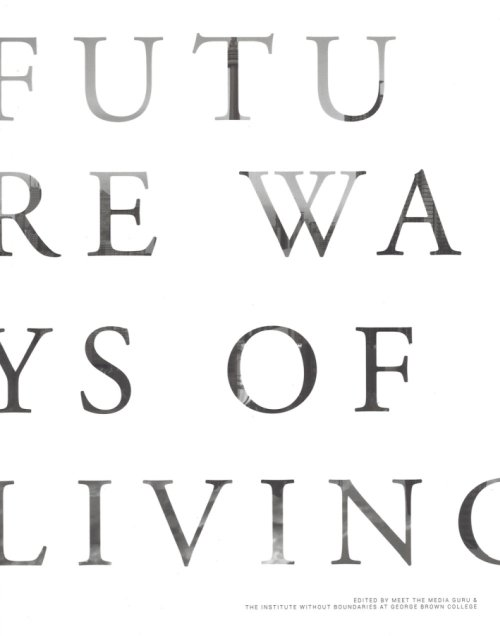 Future ways of living.