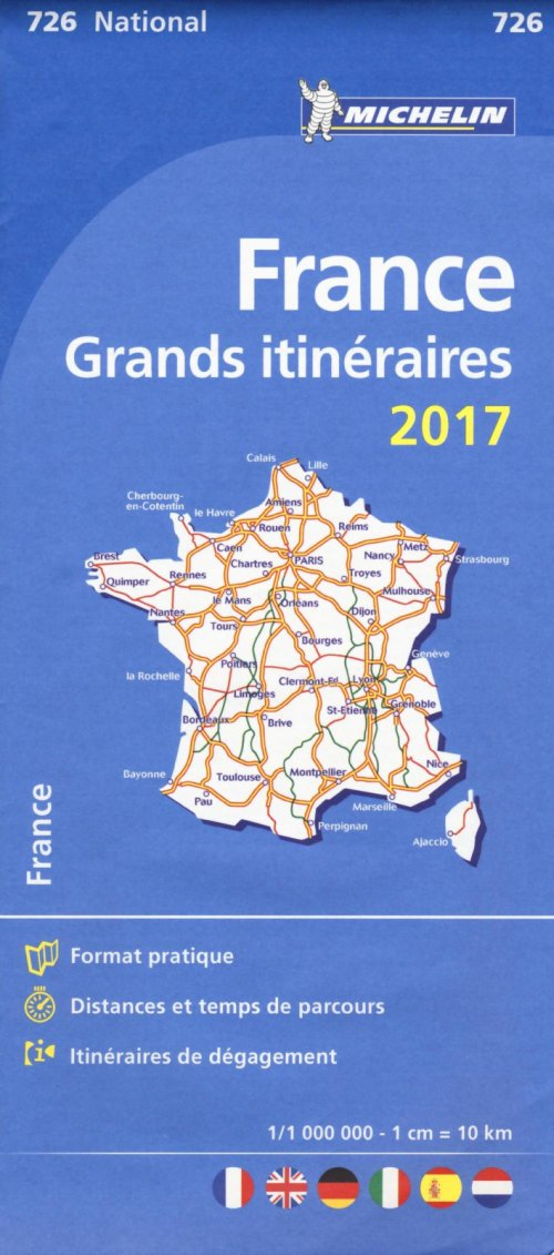 France Route Planning 2017 National Map 726.