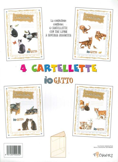 4 Cartellette Io Gatto.